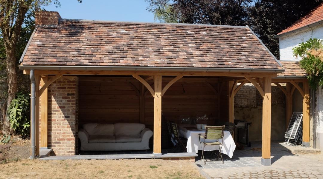 Terrasse couverte avec Barbecue | Taïga