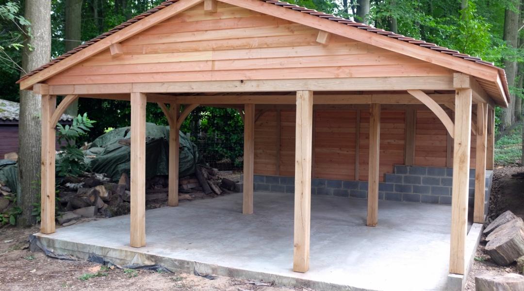 abri carport amazing carport en bois with abri carport. Black Bedroom Furniture Sets. Home Design Ideas
